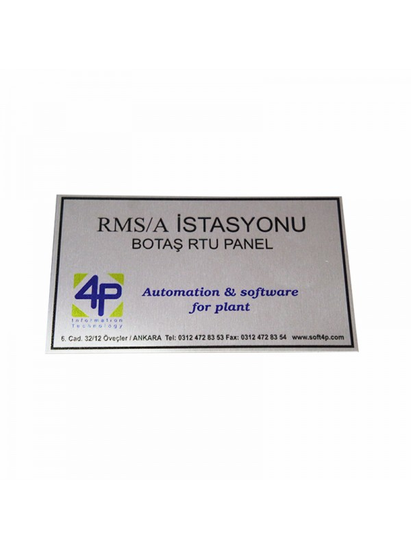 UV Metal Etiket ölçüler: 12 x 7 cm