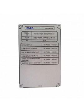 UV Metal Etiket ölçüler: 14 x 10 cm