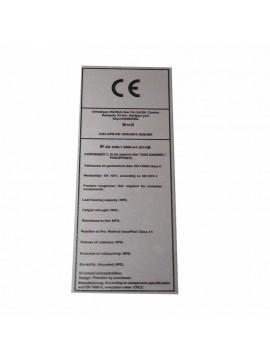 Metal Etiket ölçüler: 15 x 6 cm