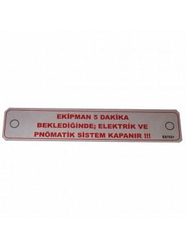 UV Metal Etiket ölçüler: 15 x 3 cm