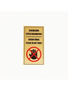Metal etiket İmalatı Ölçü: 11.5 x 6 cm