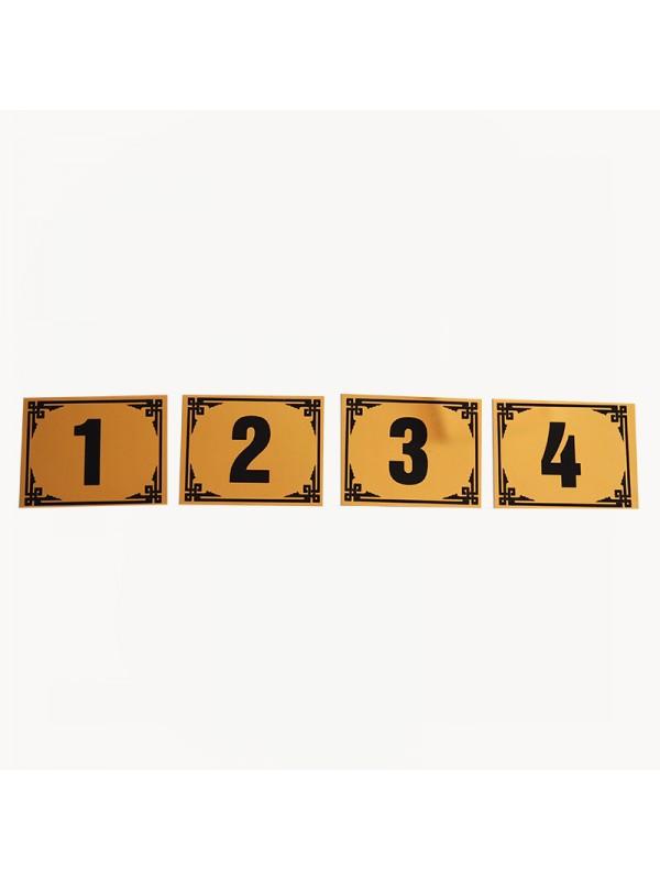 Parlak Sarı Metal Numara-2