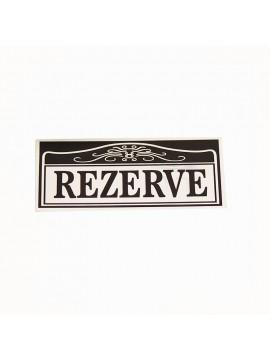 Alüminyum Renk Masa İçin Rezerve Etiketi-2