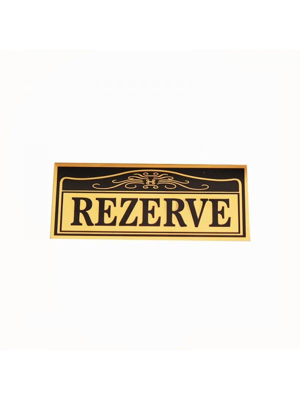 Sarı Renk Masa İçin Rezerve Etiketi-1