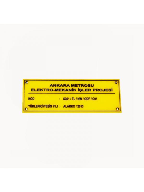 Kablo hattı pleksi etiket-4